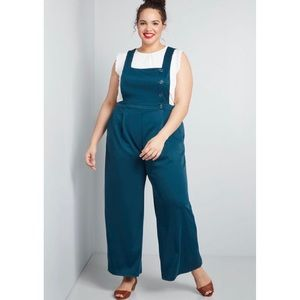 NWT ModCloth Teal jumpsuit